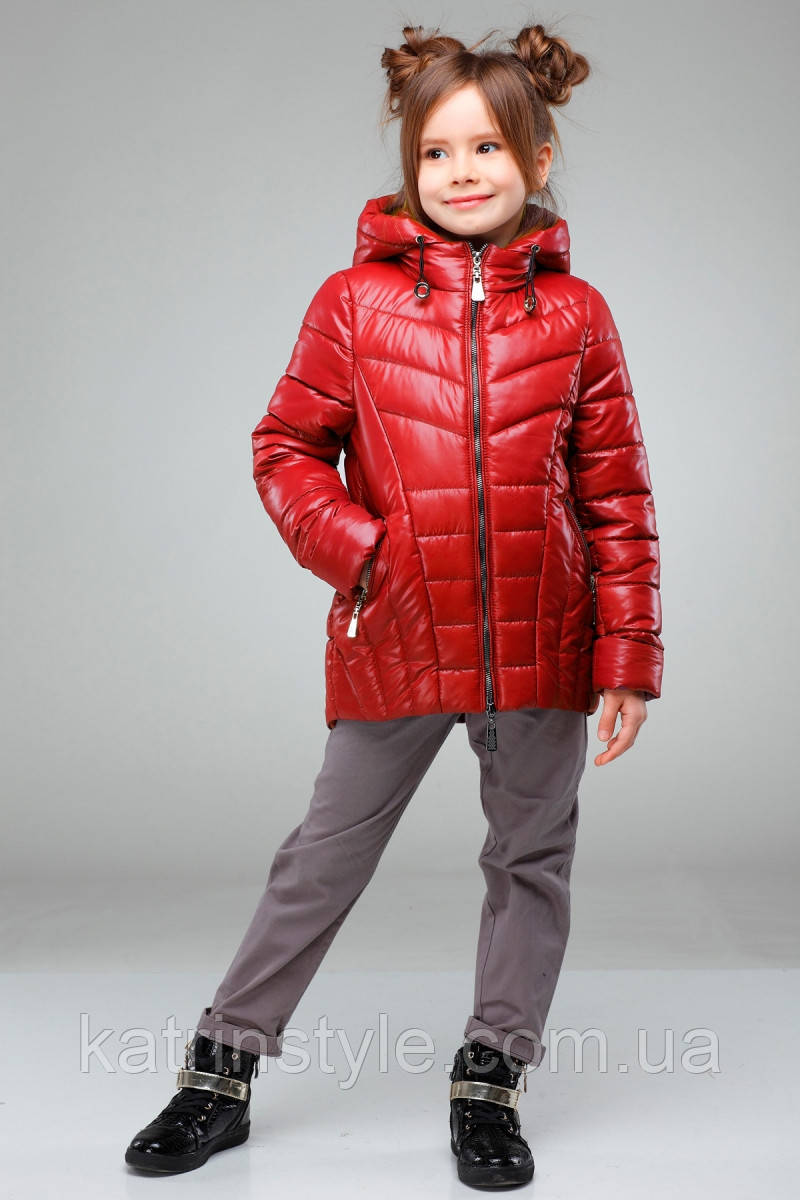 """Весенняя куртка для девочек """"Майя"""" с капюшоном"""