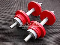 Гантели по 10 кг наборные стальные (от 3 до 10 кг каждая) шаг 1 кг