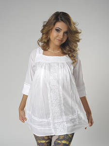 Туники блузы из натурального хлопка, шелка, шифона .