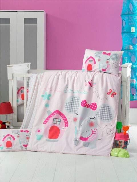 Детская сменная постель Pink house, Victoria