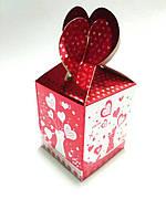 "Подарочная коробочка ""Влюбленная парочка"" красная"