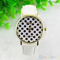 Нежные оригинальные женские часы Peas, белые