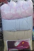 Однотонное полуторное одеяло La Bella бязь на халлофайбере