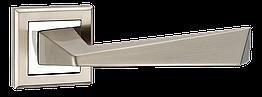 """Ручки дверні MVM Z-1321 SN/CP """"Edge"""" матовий нікель/хром"""