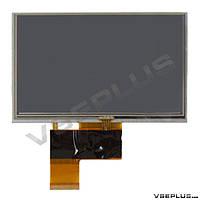 Дисплей (экран) под китайский навигатор Navi N50i BT, AT050TN33 v.1, KD50G10-40NC-A3, 32000579-02, с