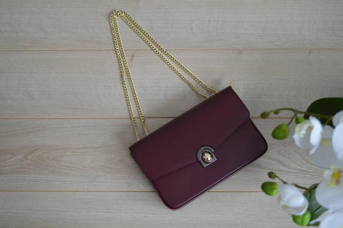Бордовая сумка-клатч VirginiaConti