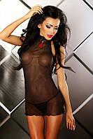 Прозрачная сорочка Lolitta Boudoir Chemise Лолита Будур L/XL тонкие черные стринги в комплекте