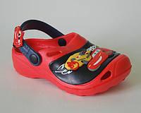 Шалунишка арт.LW007 красный маквин Кроксы/ пляжная обувь для детей.