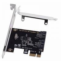 PCIe контроллер 2 порта SATA 3 III 6.0Gbps SSU