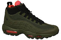 Мужские кроссовки Nike Air Max 95 Sneakerboot Crimson Khaki Реплика, фото 1