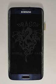 Дисплей Samsung G925 Galaxy S6 Edge с сенсором Черный Black оригинал , GH97-17162A