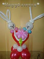 Серце з зайчатами
