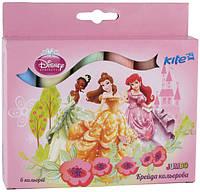 Мел цветной  Принцессы Jumbo 6 цветов
