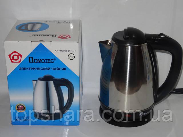 Электрический чайник нержавейка Domotec MS-5001 на 1.8л