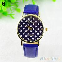 Нежные оригинальные женские часы Peas, синие