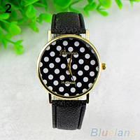 Нежные оригинальные женские часы Peas, черные