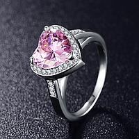 """Кольцо Swarovski """"Розовое сердце"""", фото 1"""