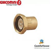 """Фитинг с обратным клапаном Giacomini R39Y001 1*1/2""""X1"""" для циркуляционного насоса"""