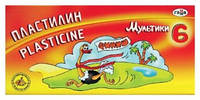 "Пластилин ""Гамма""  6цветов 280015 ""Мультики"""