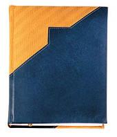 """Датированный ежедневник А5 Мадейра (коллекция """"СТАНДАРТ""""), сине-жёлтый, от 100 шт"""