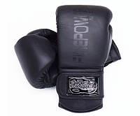 Боксерские перчатки FirePower FPBG4 Черные матовые