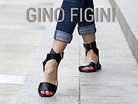Босоножки из натуральной кожи черного цвета на низком ходу коллекция лето-весна 2016, Б-600 TM Gino Figini