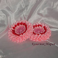 Украшение для волос Круглый цветочек (основа на выбор), 2шт
