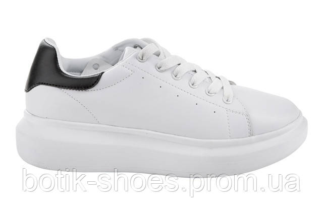 179c6b74 Женские белые кроссовки на платформе, кожа Restime PWO16523 white ...