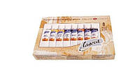 Масляные краски набор Ладога 8 цв,18 мл, туба 1241081,Киев