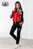 Женский спортивный костюм Adidas. Материал турецкая двух нить. Размер 42-46.