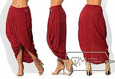 Асимметрическая женская юбка батал