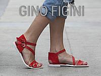 Босоножки из натуральной кожи красного цвета коллекция лето-весна 2016, С-680 TM Gino Figini