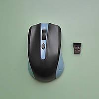 Компьютерная мышка беспроводная 2,4Ghz USB, синяя