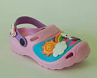 Шалунишка арт.LW007 св.розовый китти Кроксы/ пляжная обувь для детей.