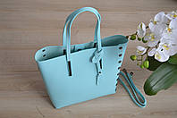 Голубая сумка-шоппер VirginiaConti