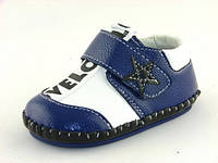 Детские мокасины пинетки Clibee:D-502 тем.Синий