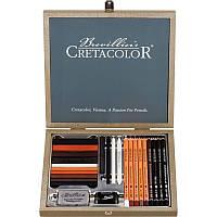 Набор карандашей для рисунка PASSION BOX, 25 ШТ., ДЕР. КОРОБКА, CRETACOLOR 40041,Киев