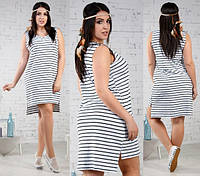 Женское платье батал ассиметрия