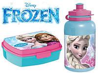 "Набор ""Frozen (Холодное сердце)"". Контейнер для завтрака (ланч бокс) + бутылка, ТМ ""Stor"" (Испания)"