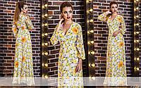 Шифоновое платье цветочного принта в пол