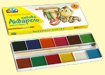"""Акварель """"Гамма-Н"""" 12 цветов 311036 """"Любимые игрушки"""""""