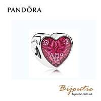 Pandora Шарм СЕРДЦЕ TE AMO #792048EN117 серебро 925 Пандора оригинал