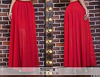 Женская летняя юбка шифоновая в пол
