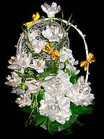 Большой  букет из конфет Зимняя белая роза