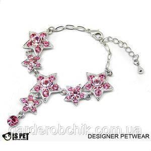 """Ожерелье """"Розовый океан"""" для собаки, кошки Is Pet. Украшения для животных"""