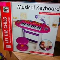 Детское пианино для девочек со стульчиком 383