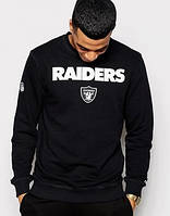 Мужской СВИТШОТ Raiders (Рэйдерс) Black 🔥