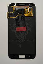 Дисплей Samsung G930 Galaxy S7 с сенсором Серебряный Silver оригинал , GH97-18523B, фото 2