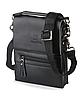 Мужская сумка Bradford 889-0 черная на три отдела искусственная кожа размер 14см х 18см х 5см