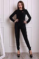 Женский костюм из структурного черного бархата